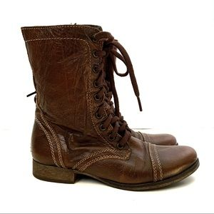 Steve Madden Troopa Combat Boots Brown size 6.5